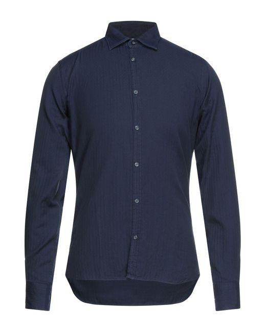 Camicia di Aglini in Blue da Uomo