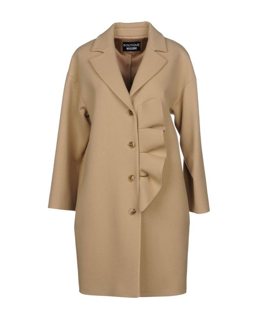 Boutique Moschino - Natural Coats - Lyst