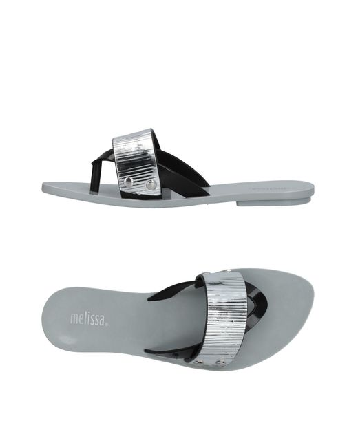 Melissa - Metallic Toe Strap Sandal - Lyst