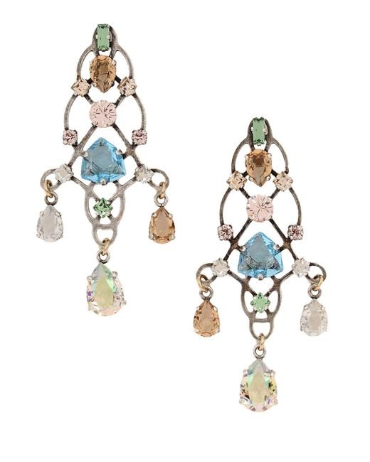 Lanvin - Metallic Earrings - Lyst