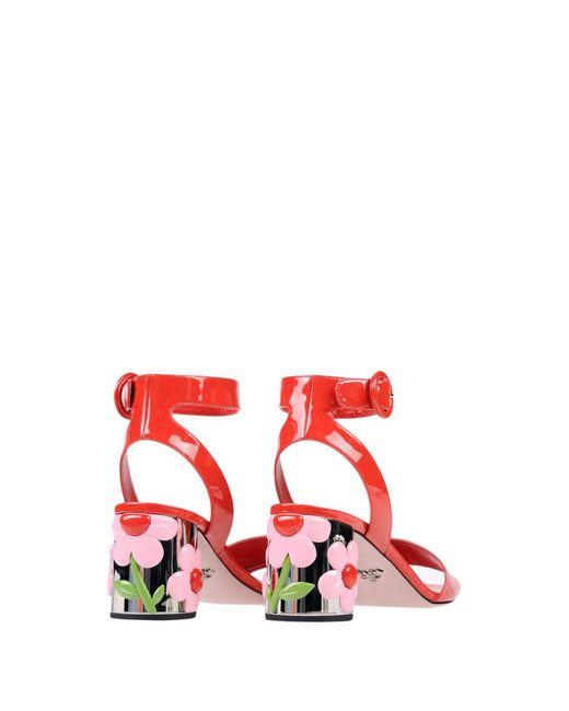 Prada Red Sandals