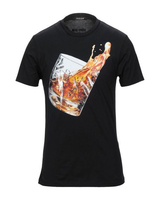 Roberto Cavalli Black T-shirt for men