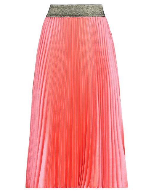 Falda a media pierna Silvian Heach de color Pink