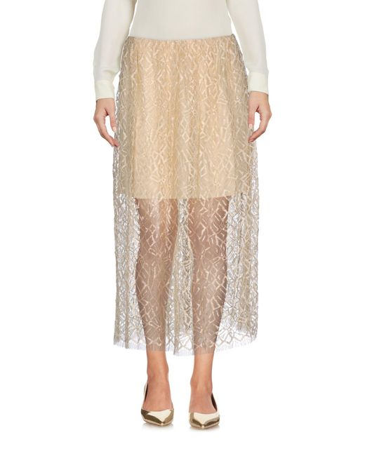 Adam Lippes - Natural 3/4 Length Skirts - Lyst