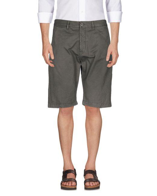 Uniform - Gray Bermuda Shorts for Men - Lyst