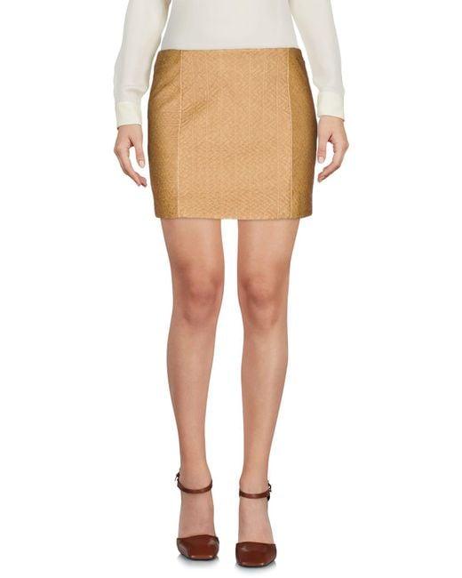 Armani Jeans   Natural Mini Skirt   Lyst