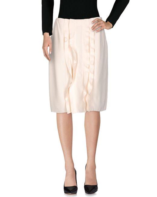 Prada White Knee Length Skirt