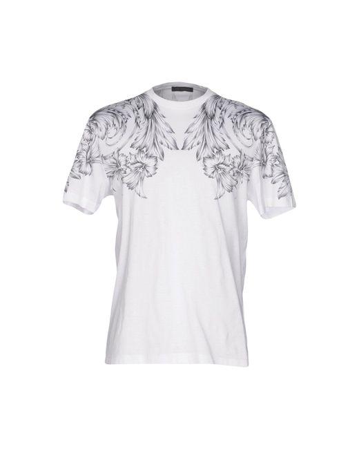 Versace T-shirt da uomo di colore bianco