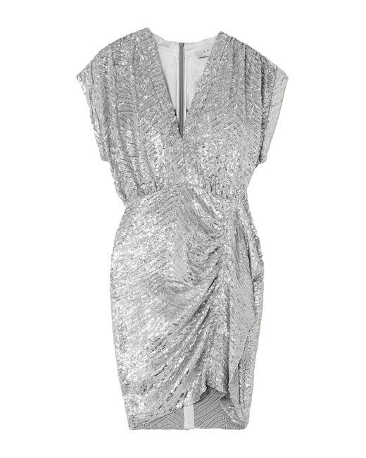 Robe courte IRO en coloris Metallic