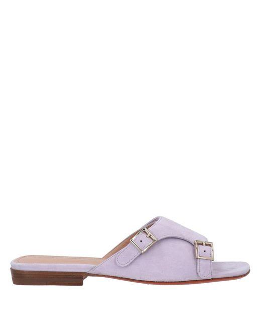 Santoni Purple Sandals