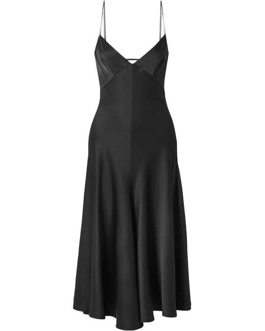 Khaite Vestido a media pierna de mujer de color negro