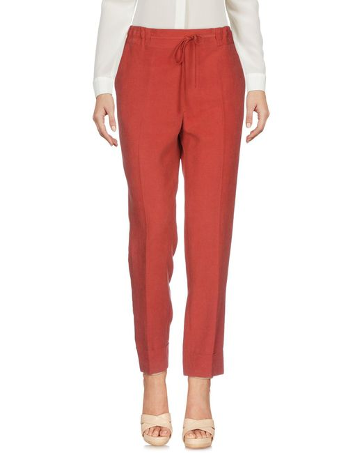 Stefanel - Red Casual Trouser - Lyst