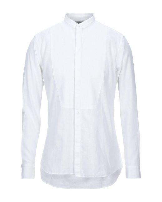 Camisa Paolo Pecora de hombre de color White
