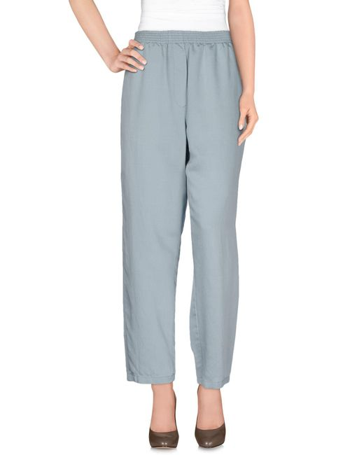 MM6 by Maison Martin Margiela - Blue Casual Pants - Lyst