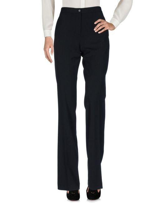 Alberta Ferretti Black Casual Pants