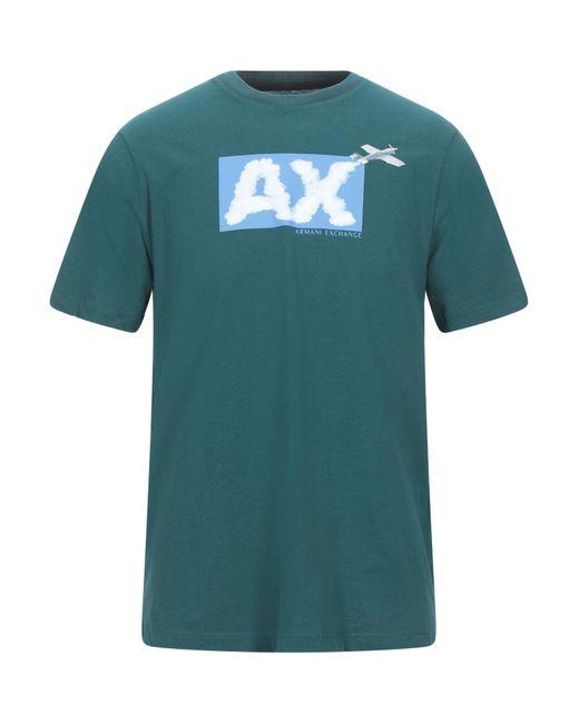 Camiseta Armani Exchange de hombre de color Green