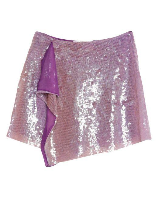 Minigonna di Alberta Ferretti in Purple