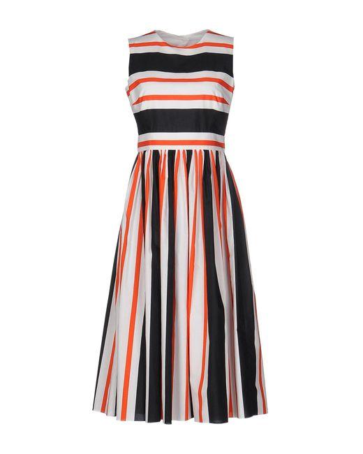 Dolce & Gabbana Orange 3/4 Length Dress