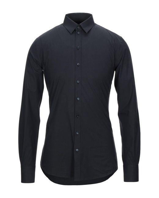 Dolce & Gabbana Camicia da uomo di colore blu