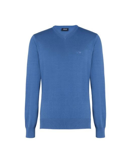 Armani Jeans - Blue Jumper for Men - Lyst