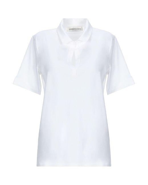 Lamberto Losani Polo da donna di colore bianco