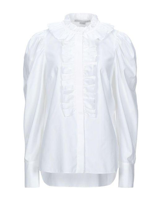 Stella McCartney Camicia da donna di colore bianco