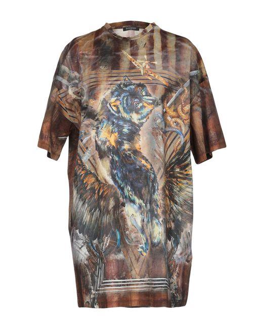 T-shirt Balmain en coloris Brown