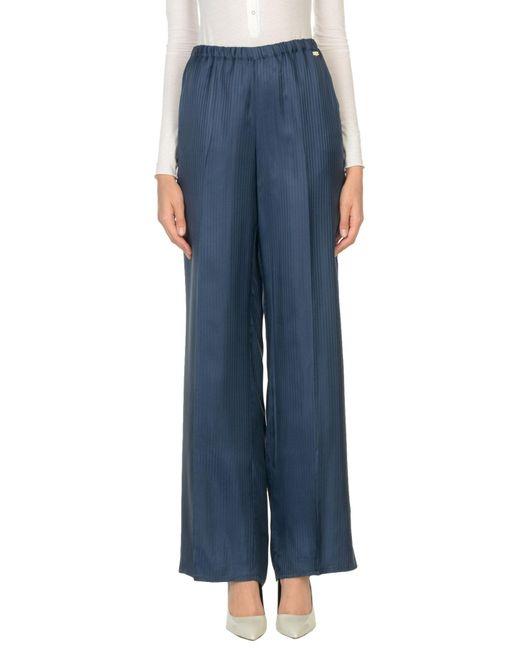 Scee By Twin-set - Blue Casual Trouser - Lyst