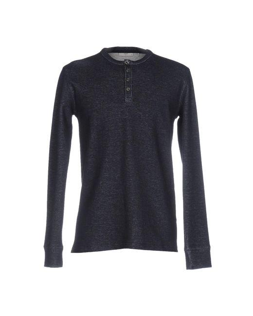 Minimum - Blue T-shirt for Men - Lyst