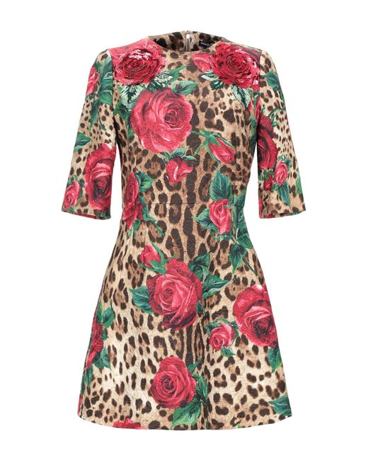 Robe courte Dolce & Gabbana en coloris Red