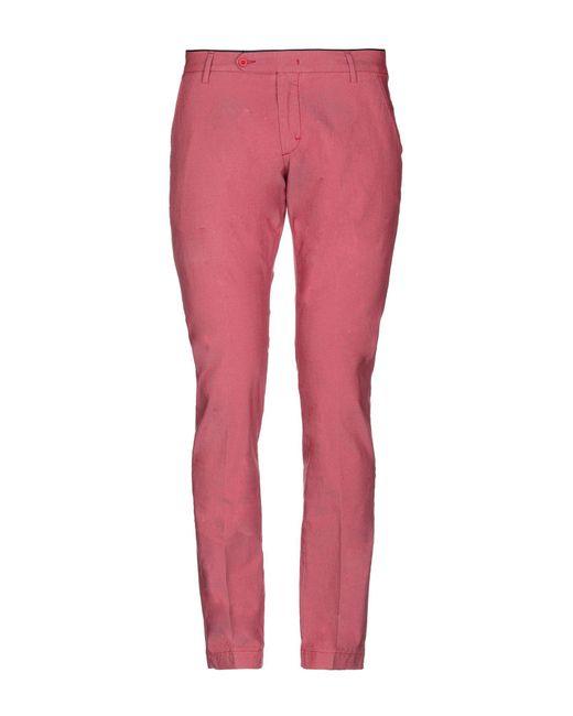 Michael Coal Red Casual Trouser for men