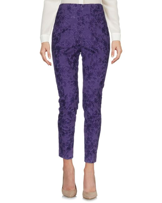 Department 5 - Purple Casual Pants - Lyst