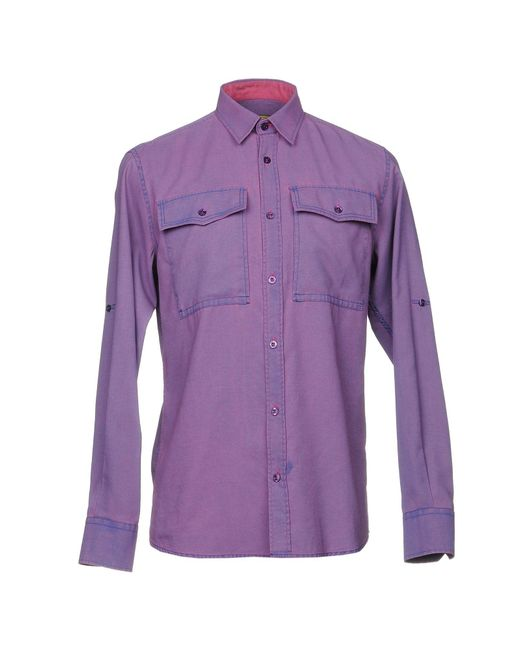 Versace Jeans - Purple Shirt for Men - Lyst