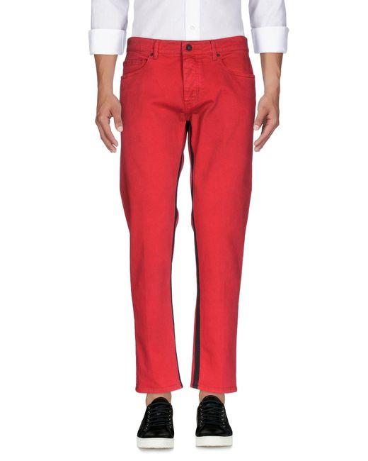 Pence   Red Denim Pants for Men   Lyst