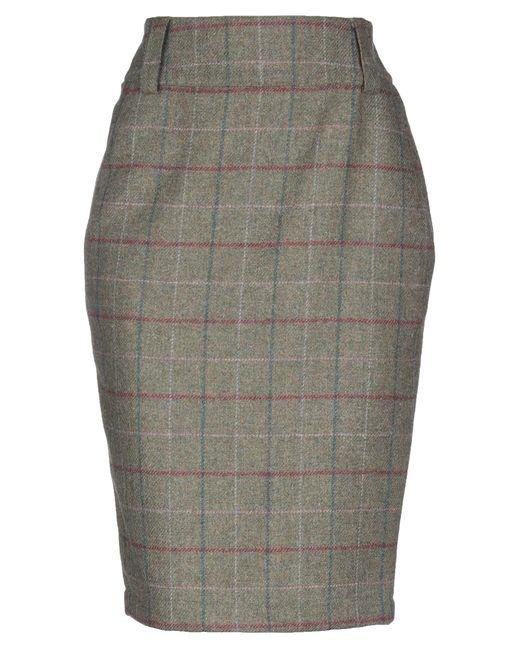 Barbour Gray 3/4 Length Skirt