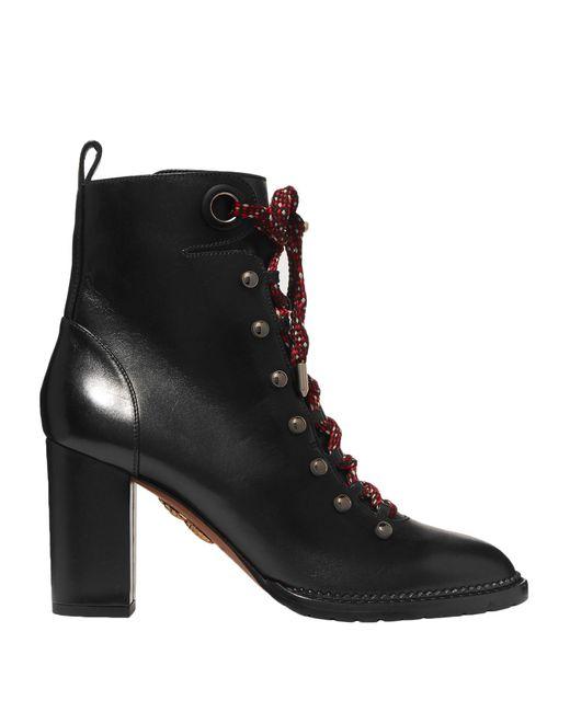 Aquazzura Black Ankle Boots