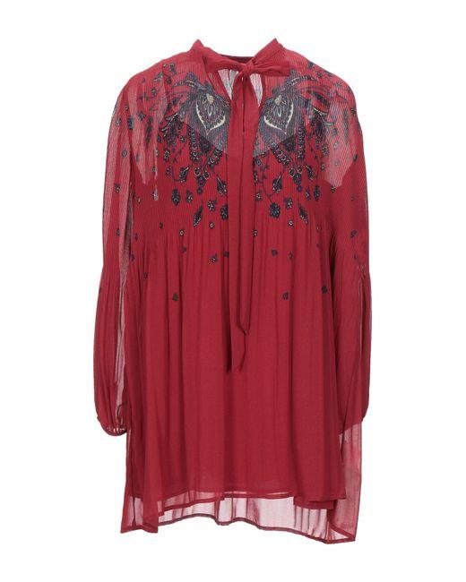 Pepe Jeans Red Kurzes Kleid
