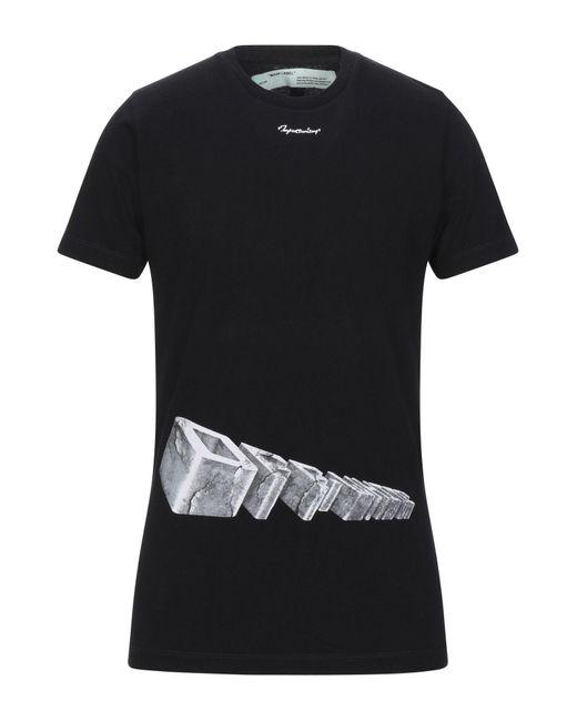 Off-White c/o Virgil Abloh T-shirt da uomo di colore nero
