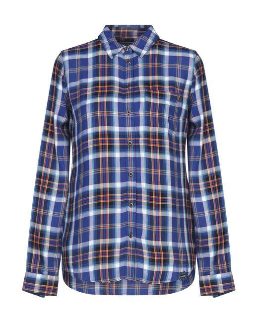 Superdry Camicia da donna di colore blu