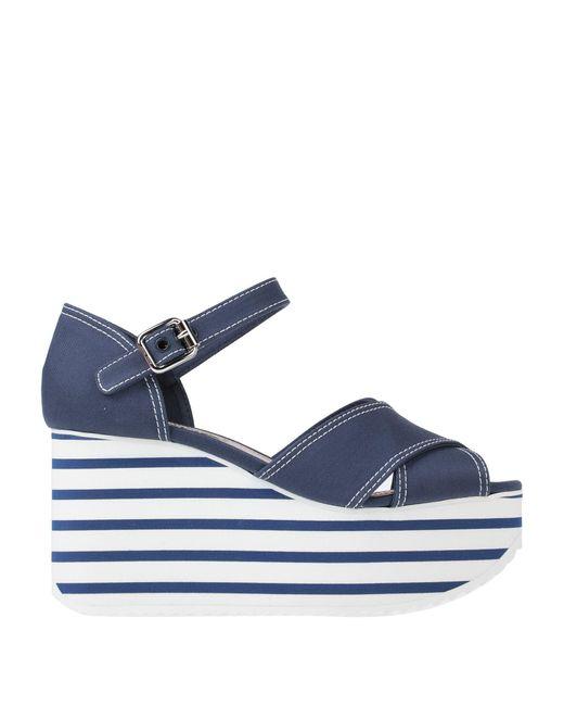 Miu Miu Blue Sandals
