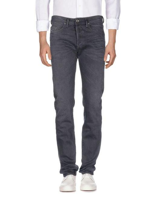 DIESEL - Black Denim Trousers for Men - Lyst