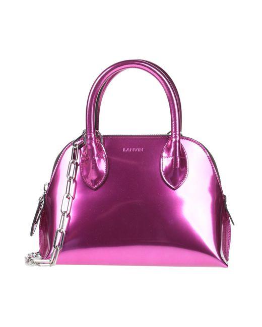 Borsa a mano di Lanvin in Purple