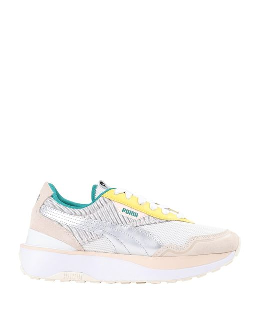 PUMA White Low-tops & Sneakers