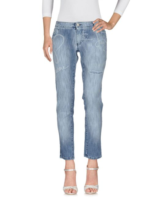 ONOMATO! - Blue Denim Trousers - Lyst