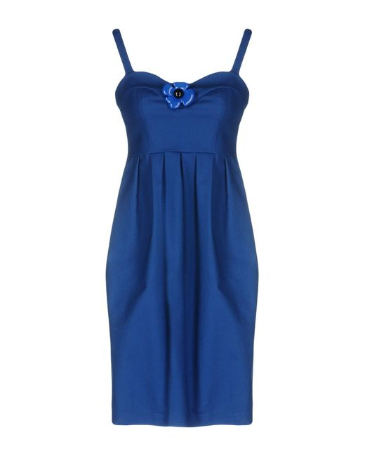 Boutique Moschino Blue Short Dress