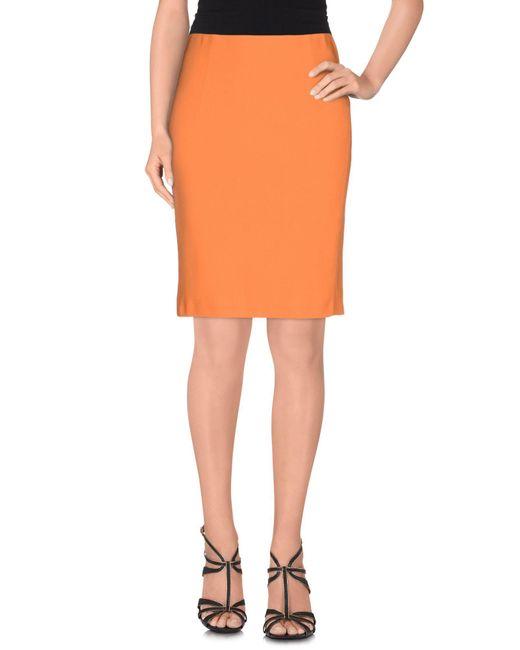 Patrizia Pepe - Orange Knee Length Skirt - Lyst