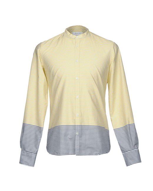 Aglini - Yellow Shirt for Men - Lyst