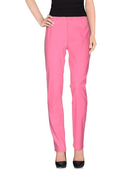 ONLY - Pink Casual Pants - Lyst