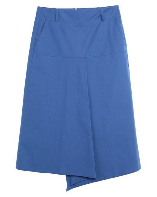 Jupe mi-longue Slowear en coloris Blue