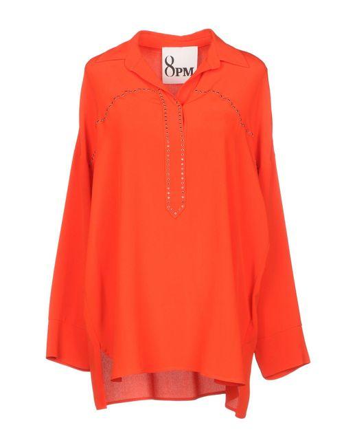 8pm Blusa da donna di colore arancione